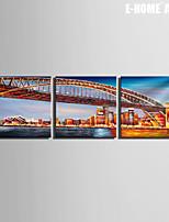 Paesaggio / Architettura Print Canvas Tre Pannelli Pronto da appendere , Quadrato