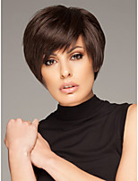 Capless Short Bob High Quality Synthetic Natural Black Straight Hair Wig