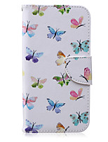 For Samsung Galaxy Case Card Holder / Wallet / with Stand / Flip / Pattern Case Full Body Case Butterfly PU Leather SamsungJ5 / J3 / J2 /