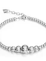 925 Sterling Silver Bracelet  with Lucky beads