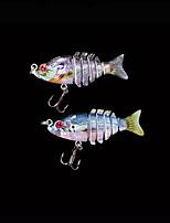 Poissons nageur/Leurre dur 2.2 g Once , 50 mm pouce 2 pcs Pêche en mer , Violet Plastique dur