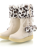 Women's Shoes Platform Snow Boots / Round Toe Boots Dress / Casual Black / Red / Beige