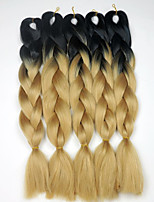 Black&27 Golden Blonde 100grams 20inch Ombre Two tone Kanekalon Jumbo Braiding Synthetic Hair Extensions