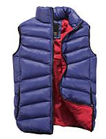 jisneyMen's Sleeveless Vest , Cotton Casual / Work / Formal / Sport / Plus Sizes Pure Collar ma3 jia3 cotton vest