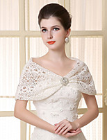 Lace Sleeveless Wedding Wraps Capelets/Wraps/Shawls with Crystal