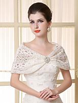 Lace Sleeveless Wedding Wraps Capelets/Wraps/Shawls with Crystal