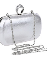 Women Bags All Seasons PU Evening Bag with Rhinestone for Wedding Event/Party Formal Blue Gold Black Silver Red