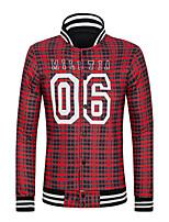Men's Fashion Casual Hip Hop Long Sleeve Single Breasted Printing Jacket