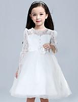 Girl's Vogue  Cotton Blend Fall/Winter Flowers Pearl  Gauze  Princess Dress