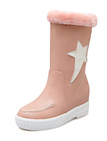 Women's Shoes Winter Snow Boots / Round Toe Boots Dress / Casual Platform Slip-on Black / Pink / White
