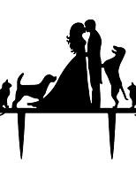 Figurine - Akryyli - Häät / Vuosipäivä / Bridal Shower-kutsut - Klassinen teema / Satu-teema - Klassinen pari