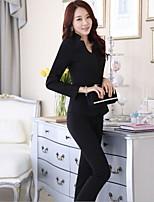 Women's Solid Black / Gray Blazer , Sexy / Bodycon / Work Off Shoulder Long Sleeve