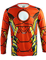 Arsuxeo Quick Dry Long Sleeve Casual Cycling Jersey Ironman