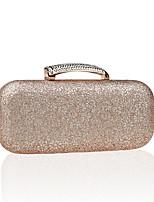 Women PU Baguette Clutch - Pink / Blue / Gold / Silver / Black / Champagne