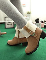 Women's Shoes Leatherette Chunky Heel Combat Boots / Round Toe Boots Outdoor /  CasualBlack / Brown / Yellow / Beige /