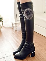 Women's Shoes  Chunky Heel Fashion Boots / Closed Toe Boots Dress / Casual Black