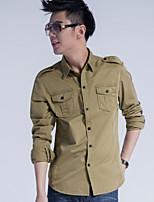 2015 new autumn long sleeved shirt cotton frock coat male male inch uniform leisure slim jacket tide metrosexual man