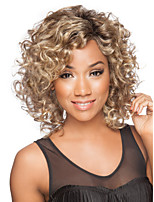 Fashion Lady Short Brown Blonde Mixed Curly Cosplay  Hair
