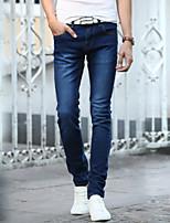 AOLONGQISHI® Men's Pure Long Sleeve Pant , Cotton / Denim Casual 5817