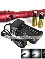 Linternas LED ( A Prueba de Agua / Recargable / Resistente a Golpes / Bisel de Impacto / Táctico / Emergencia / autodefensa ) - LED 2 Modo