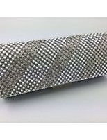 Women Other Leather Type Baguette Evening Bag - Silver / Black