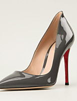 Women's Shoes Patent Leather Stiletto Heel Heels / Pointed Toe Heels Wedding / Party & Evening / Dress Gray