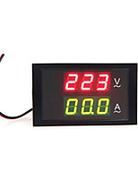 Digital LED Voltage Meter Ammeter Voltmeter with Current Transformer AC80-300V 0-100.0A Dual Display