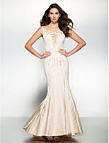Formal Evening Dress - Ivory Trumpet/Mermaid Scoop Sweep/Brush Train Tulle