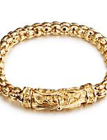 Cadenas y esclavas 1 pieza,De Moda Forma de Círculo Dorado Acero inoxidable Joyas Regalos