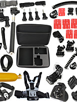 38 in 1 Gopro Accessories Set With L Size Case Monopod Floating Chest Head Strap For Xiaomi SJCAM Sj4000 Hero 4
