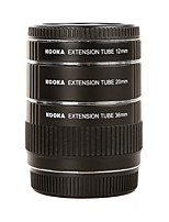 KOOKA Metal AF Macro Extension Tubes KK-O68 for Olympus OM 4/3 (12mm 20mm 36mm)SLR Camera Lens close-up photography