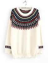 Women's Fashion Casual Solid Wool Cashmere Pullover Knit Sweater