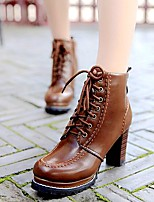 Women's Shoes Libo New Style Hot Sale Chunky Heel Fashion Boots / Comfort Boots Dress / Casual Black / Brown