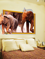 3D Wall Stickers Wall Decals, Elephant  PVC Wall Stickers
