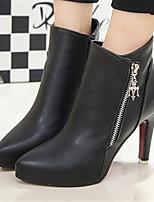 Scarpe Donna - Stivali - Casual - A punta - A stiletto - Finta pelle - Nero / Rosso