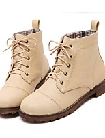 Women's Shoes Low Heel Bootie Boots Casual Brown / Ivory