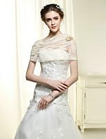 Wedding / Party Wraps Bride Elegant Embroidery Shawls Cotton / Lace White