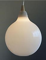 Milk white glass bottle Pendant Lamp Natural Curve C
