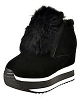 Women's Shoes  Wedge Heel Snow Boots / Round Toe Boots Outdoor / Casual Black / Red