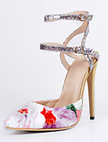 Women's Shoes Leatherette Stiletto Heel Heels / Pointed Toe Heels Party & Evening / Dress / Casual Multi-color
