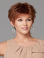 colore della miscela senza cappuccio capelli ricci del bicchierino di alta qualità parrucca sintetica naturale in più con botto lato