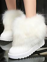 Chaussures Femme - Décontracté - Noir / Blanc - Talon Bas - Bout Arrondi - Bottes - Similicuir