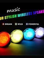 nouveau bluetooth couleur de la boule orateur a mené la lumière parleur de cristal magique avec télécommande lecteur audio sans fil