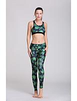 Ioga Conjuntos de Roupas/Ternos Calças + Tops Materiais Leves / Redutor de Suor Elasticidade Alta Wear Sports Mulheres - OutrosIoga /