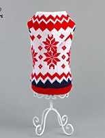 Invierno - Rojo - Boda / Cosplay / Navidad / Vacaciones / Año Nuevo - Acrílico - Abrigos / Suéteres - Perros / Gatos - XS / S / M / L / XL