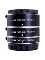 Les tubes d'extension af aluminium Kooka-de ft47a de définir pour Olympus Panasonic micro 4/3 système (10mm, 16mm, 21mm) caméras