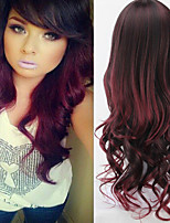 The New Europe And The United States Hot Sale Ombre Color Synthetic Wigs