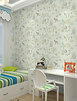 Home Decor Art Lovely Cute Elephant Wallpaper Wall Covering  PVC Wall Paper 10*0.45 M