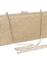 Women Polyester / Metal Minaudiere Clutch / Evening Bag - Gold