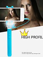 récent super mini filaire selfie monopode bâton avec la version de nuit conduit flash de lumière pour les smartphones